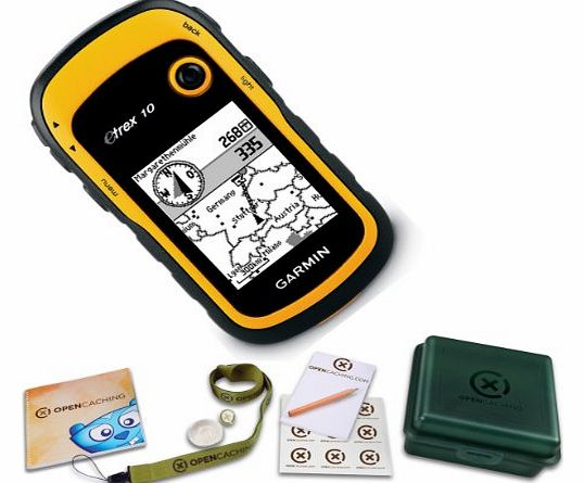 eTrex 10 Handheld GPS Geocaching Bundle