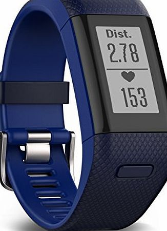 Garmin Vivosmart HR  GPS Fitness Activity Tracker with Smart Notifications and Wrist Based Heart Rate Monitor - Regular, Blue