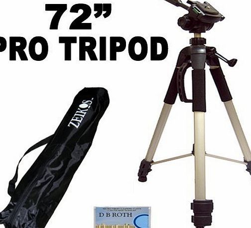 GBROTH Professional PRO 183 cm Super Strong Tripod With Deluxe Soft Tripod Carrying Case For The Fujifilm FinePix T500, T550, XP200, XP60, SL1000, S8200, S8300, S8400, S8500, S4800 Digital Camera