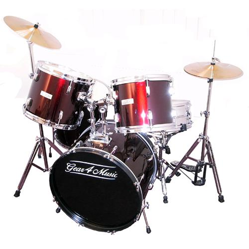 5 piece Drum Kit in RED