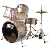 5 piece Drum Kit in silver