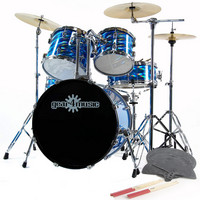 Deluxe Drum Kit by G4M Laser Blue - Complete Pack