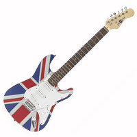 Gear4Music Electric-ST Guitar by Gear4music Union Jack