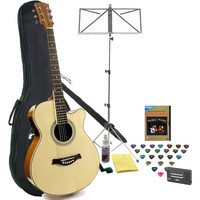 Gear4Music Single Cutaway Electro Acoustic Natural