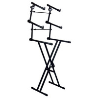 Gear4Music X-Frame Keyboard Stand by G4M 3 Tier