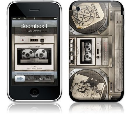 iPhone 3GS & 3G Skin Boombox II by