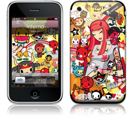iPhone 3GS & 3G Skin Inferno by Tokidoki