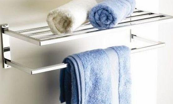 gemstone hotel style chrome towel shelf review compare. Black Bedroom Furniture Sets. Home Design Ideas