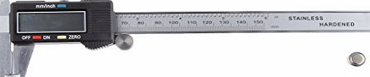 Generic 6`` 150mm Stainless Steel Electronic Digital Vernier Caliper Micrometer Guage