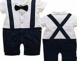 Baby boys party outfit 6-24 mnths GENTLEMAn Short SLEEVE suit for wedding christmas birthday(9-12 months)