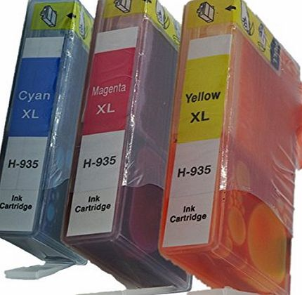 Generic Compatible Ink Cartridges Replacement For HP 934XL 935XL 934 XL 935 For HP934 For HP935 For HP934XL For HP935XL Ink Cartridges High Yield Compatible with HP Officejet pro 6830 6835 6230 6812 6815 6836