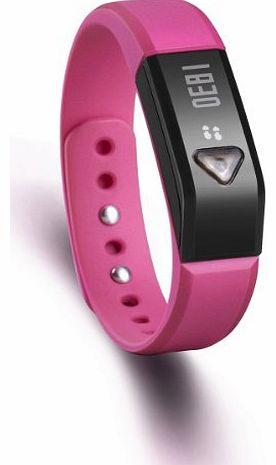 Generic IP67 Bluetooth V4.0 Wristband Smart Bluetooth Bracelet Sport Watch For iOS & Android iPhone 4S iphone 5 5S iPod Touch 5 Samsung S5 S4 Note3 Note2 Smart Phone etc -Rose Red product image