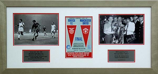 Best and#8211; Signed 1968 European Cup presentation