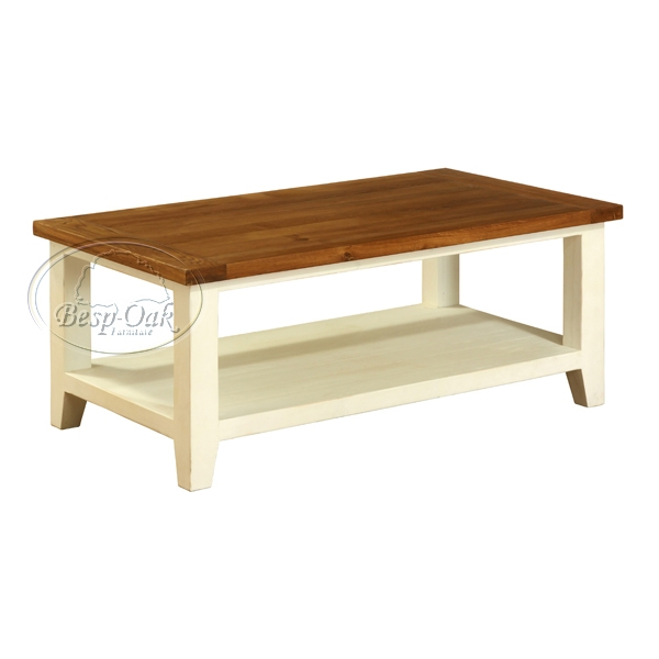 Georgia Painted Coffee Table With Shelf Cream Review Compare Prices Buy Online