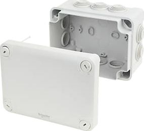 GET Schneider, 1228[^]97645 10-Entry Junction Box with Knockouts Grey 150 x