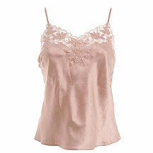 Peach silk camisole