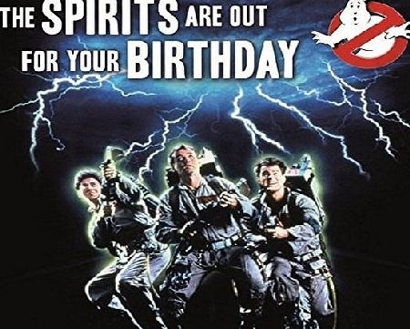 Ghostbusters ``The Spirits Are Out For Your Birthday`` General Birthday Greeting Card