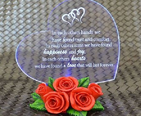 Giftgarden LED Gift Ornament Heart with Roses for Friend Gifts