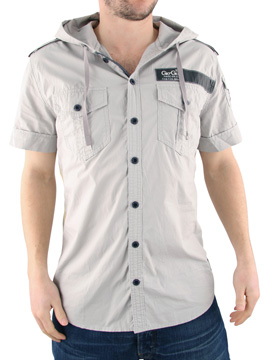 Gio Goi Light Grey Strangler Hooded Shirt product image