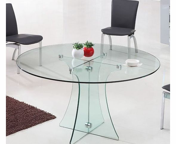 round pedestal dining table : giomani designs round dining table glass top and pedestal modern w120cm cle from www.comparestoreprices.co.uk size 590 x 481 jpeg 31kB