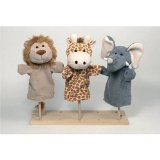 Handpuppets wild animales, set of 3