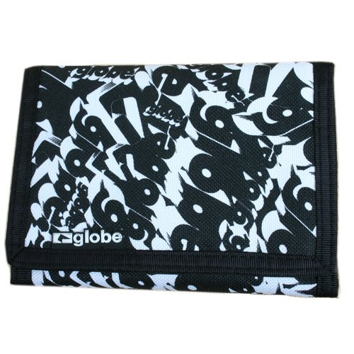 GLOBE Mens GLOBE Dee Three Wallet Black / White