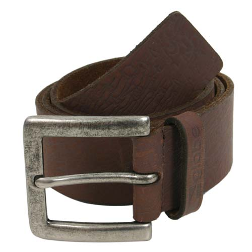 GLOBE Mens GLOBE Woodland Leather Belt Brown