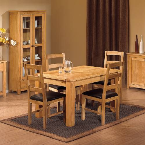 Gloucester oak furniture dining room sets for Oak dining room set