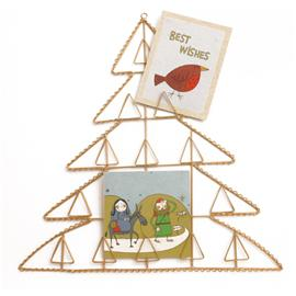 Gold Christmas Tree Card Holder product image