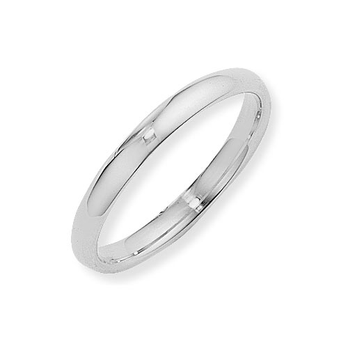 white wedding ring.  3mm Court Shape Wedding Ring In 18 Carat White Gold