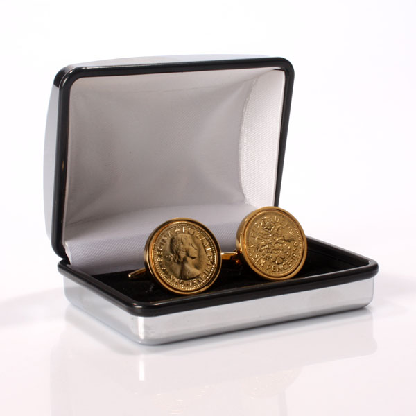 Give someone special a bit of luck with these Gold Plated Lucky Sixpence Cufflinks! - CLICK FOR MORE INFORMATION