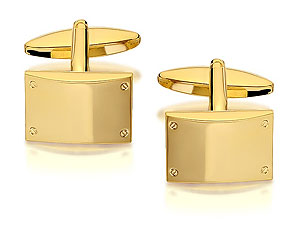 Classic 12 x 17mm rectangular swivel cufflinks with a screw head detail in each corner. - CLICK FOR MORE INFORMATION