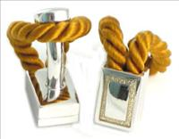 Gold Rope Wrap Cufflinks by Babette Wasserman - CLICK FOR MORE INFORMATION