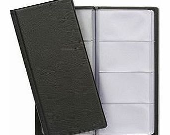 Classic Business Card Holder PVC 64 Pockets for 128 Cards 280x110mm Black Ref CBC4P