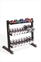The Golds Gym Horizontal Dumbbell Rack offers 3 shelves provide ample storage for any style dumbbell. - CLICK FOR MORE INFORMATION