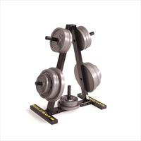The Golds Gym Weight Plate Tree provides convenient space-saving plate storage. - CLICK FOR MORE INFORMATION