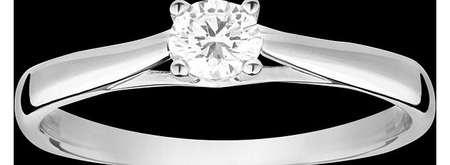 Goldsmiths Brilliant cut 0.25 carat solitaire diamond ring