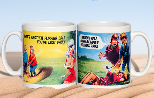 Lost Golf Balls Saucy Postcard Mug for Him