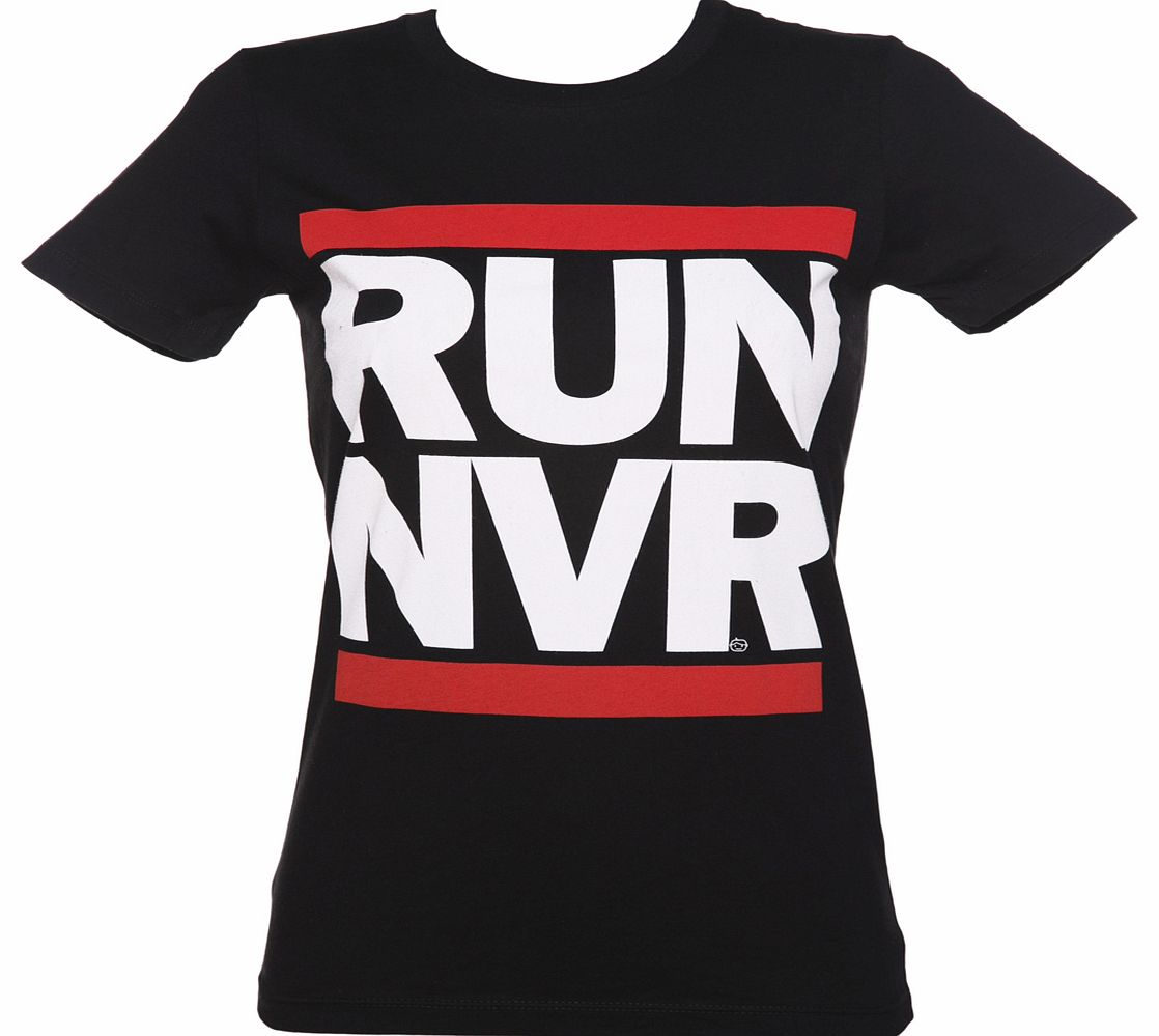 Goodie Two Sleeves Ladies RUN NVR Parody T-Shirt product image