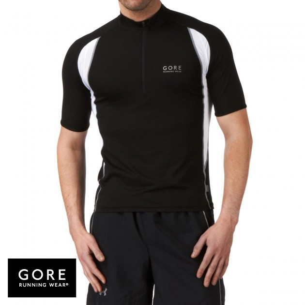 Gore Running Wear Mens Gore Running Wear Air Zip T-Shirt - Black product image