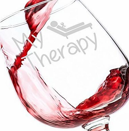 Got Me Tipsy My Therapy Funny Wine Glass 385 mL - Best Christmas Gifts For Women - Unique Birthday Gift For Her - Humorous Xmas Present Idea For a Mum, Wife, Girlfriend, Sister, Friend, Coworker or Daughter