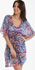 Gottex, 1295[^]258298 Profile Madame Butterfly Mesh Tunic - Multi