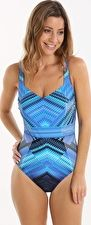 Gottex, 1295[^]263146 Venice Shaped Square Neck One Piece - Blue