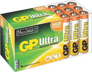 GP Batteries, 1228[^]5088G AAA Batteries 24 Pack 5088G