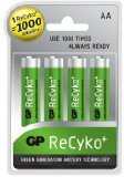 GP Batteries GP 2100mAh AA ReCyko Rechargeable Ni-Mh Batteries 4 Pack product image