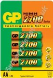 GP Batteries GP 2700mAh AA NiMH Rechargeable Batteries (4 Pk)