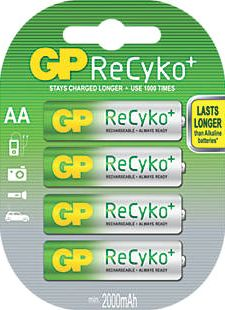 GP Batteries, 1228[^]8346G ReCyko  Rechargeable Batteries AA