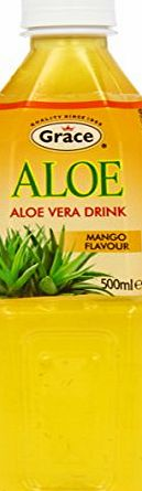 Grace Aloe Vera Drink Mango Flavour 500 ml (Pack of 12)