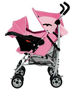 Graco Century Travel System Pink