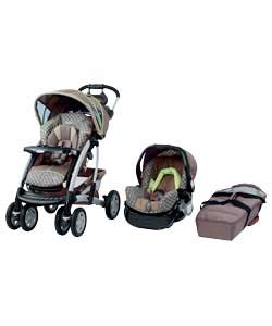 Graco Quattro Tour Deluxe Travel System Chocolate Lime